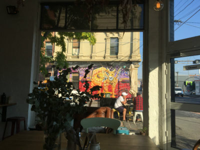 tea for concentration in a cafe - morning walk - street art in Collingwood
