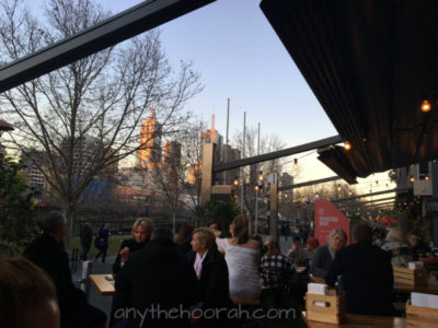 twilight over the yarra river in a bar - Hopscotch - Book Club in the Pub