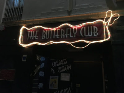 lights at the front of the butterfly club - melbourne city
