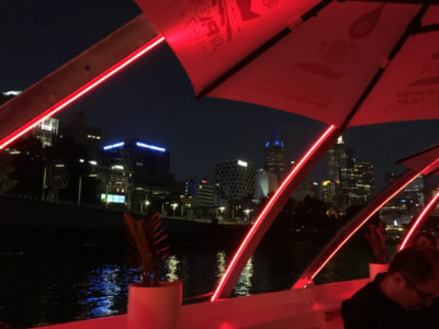 light art on the Yarra