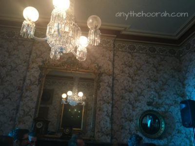chandeliers and french period wallpaper - city of melbourne