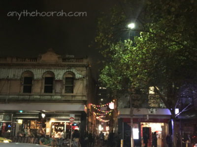 fairy lights architecture and trees