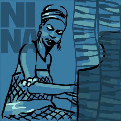 Nina Simone Jazz Drawings
