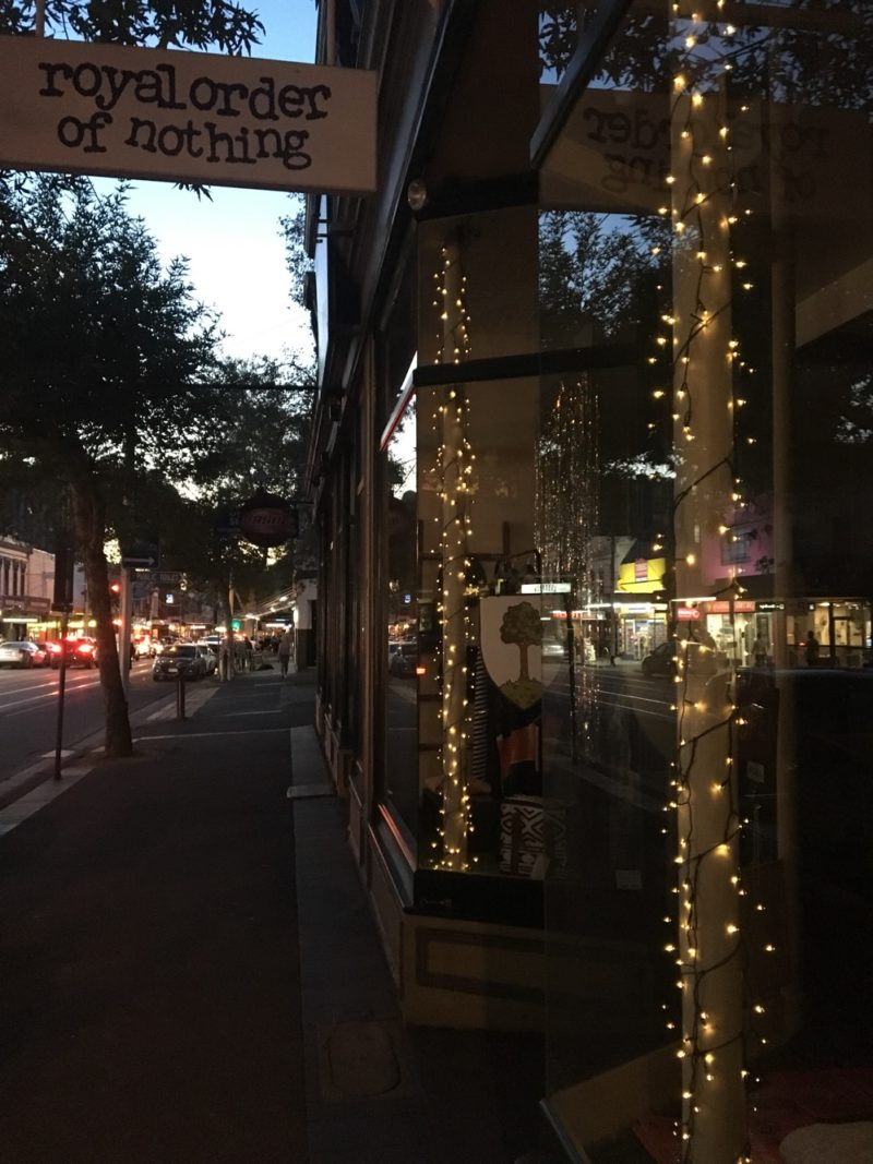 Fairy lights and thigh light streets on swan st