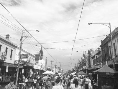 street revellers on sydney road