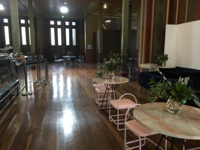 Life in style Melbourne set up flowers on tables
