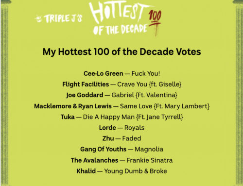 Triple J – Hottest 100 of the decade -2010s